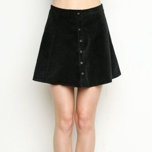 Brandy Melville Hunter Green Corduroy Skirt